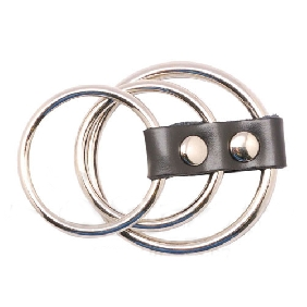 Bondage Triple Steel Cock Ring
