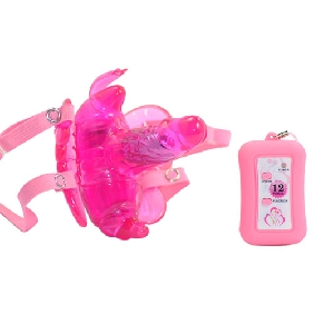 12 Speeds Remote Control Butterfly Strap-On Vibrator