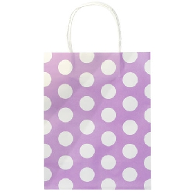Medium Size Cute Dots Purple Bag (27*21*11 CM)