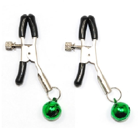 Nipple Clamps with Green Bells