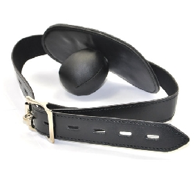 Black Ball Gag with Mouth Cover