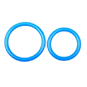 Blue Silicone Daul Ring