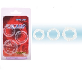 Clear Triple Cockring Kit from