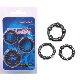Black Clear Triple Cockring Kit