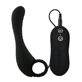 10 Speeds Silicone Prostate Stimulator in Black Color