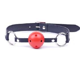 Cheap Black Ball Gag with Red Ball