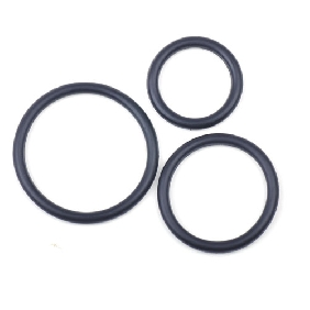 Black Color Silicone Triple Cock Ring Set