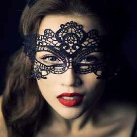 Black Sexy Lace Mask
