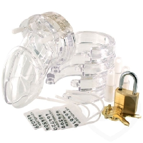 CB6000 Male Chastity Kit ( Clear Color )