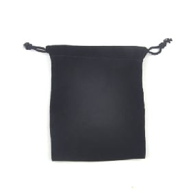 12X10 CM Black Velvet Bag