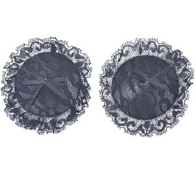 Black Lace Round Nipple Tassels