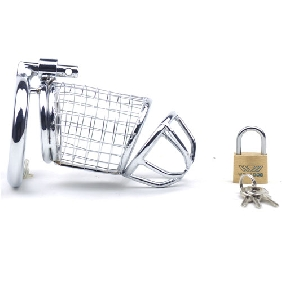Net Shape Metal Locking Chastity Cage