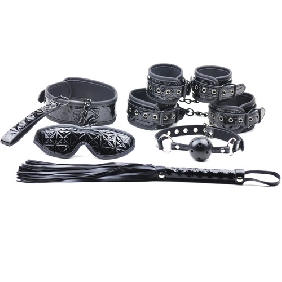 Black Color Embossed 6 Pcs SM Kit