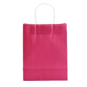 Pink Color Medium Size Gift Bags ( 20.5cm*21.5cm )
