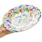 PECKER PARTY PAPER PLATES, 6 PCS IN POLYBAG WITH HEADER.