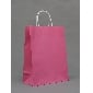 China Wholesale Dark Pink Color Big Gift Bags ( 33cm*25cm*12cm )