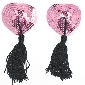 Naughty Love Heart Nipple Tassels in Pink Color