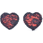 Love Heart Lace Nipple Tassels