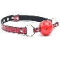 Red Color Embossed Ball Gag