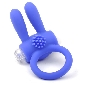Silicone Blue Rabbit Vibrating Cock Ring