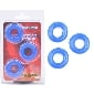 Blue Color Triple Donuts Cockring Kit