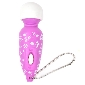 Purple Color Mini Wand Massager with Chain