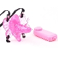 Pink Color Mini Butterfly Strap On Vibrator with Dildo