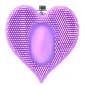 Purple Color Silicone Heart Shape Clitoral Vibrator