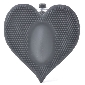 Black Color Silicone Heart Shape Clitoral Vibrator