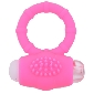 Pink Color Silicone Vibrating Cock Ring