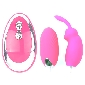 Pink Color Silicone 20 Speeds Vibrating Rabbit and Egg