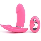 Remote Control 10-Speed Rechargeable Pink Color Silicone Butterf
