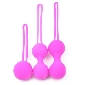 Purple Color Silicone BenWa Ball Set
