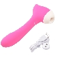 8-Speed Pink Color Rechargeable Silicone Clitoral Stimulator ( S