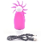 12 Functions Pink Color Silicone Rechargeable Oral Sex Simulator