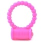 Beaded Pink Color Silicone Vibrating Cock Ring