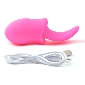 10-Speed Pink Color Rechargeable Silicone Vibrating Tongue