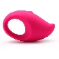 5-Speed Pink Color Rechargeable Silicone Mango Vibrator with Ring