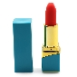 10 Speeds Blue Color Rechargeable Silicone Vibrating Lipstick