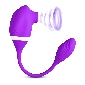 10 Speeds Purple Color Silicone Clitoral Sucking Vibrator with V